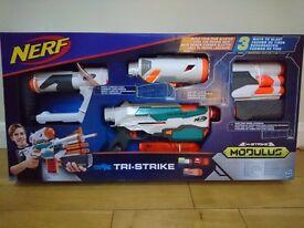 Nerf N-Strike Modulus Tri-Srike gun Brand New