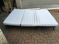 Ikea lycksele lovas 2 seater bed sofa with cover and mattress