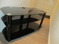 £15 ono black glass tv stand