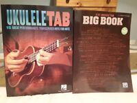 Guitar and ukulele tutor books