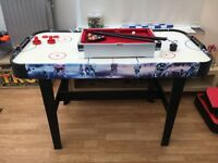 Electronic air hockey table and mini snooker table