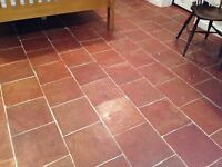 Hand made terra cotta floor tiles