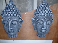 buddha's head wall plaque £15
