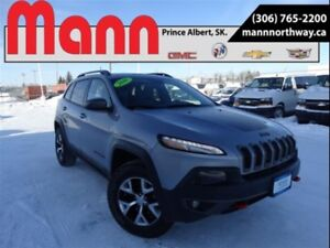2016 Jeep Cherokee Trailhawk | 3.2L , Sunroof, 4WD, Cruise, Leat