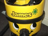 Numatic Henry James in smart Yellow & Black,(Heavy Duty), 2 Speed motor vac, Superb A1 cond., £70.0