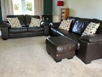Leather Suite For Sale (Open to Offers)