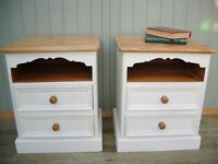 Stunning Pair of Pine Bedside Cabinets.