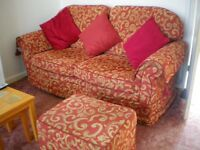 SUITE...SETTEE AND CHAIRS X 2 WITH POUFE