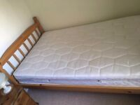 3/4 Pine Bed and Mattress Barely Used