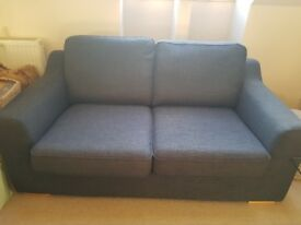 2 Grey Fabric Sofas For Sale