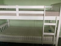 White Wooden Bunk Beds good condition