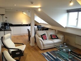 Spacious 2 bed modern apartment with views, close to shops and main line station to Waterloo