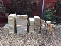 Concrete building blocks from garage demolition. Some clean. Buyer must collect £10.00
