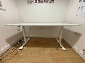 White Ikea desk standing / sitting desk