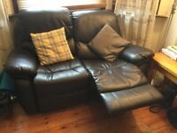 2- and 3-seater reclining leather sofas
