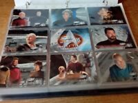 STAR TREK THE NEXT GENERATION TRADING CARDS IN BINDER SEASON 7