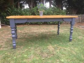 6ft Rustic Refurbished Farmhouse Table