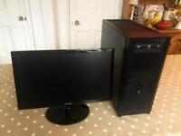 Desktop PC and Samsung Monitor