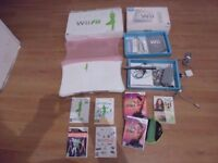 Boxed Wii + Wii Fit Board + Controllers + Just Dance, Wii Fit, Wii Fit Plus Zumba, Fitness Ultimatum