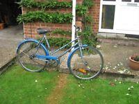 PUCH Elegance ladies bicycle, Sturmy Archer 3-speed, blue, c. 1979
