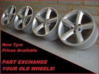 "1706 Genuine 18"" Audi A5 A6 A7 A8 Q5 Q7 5 Spoke Alloy Wheels"