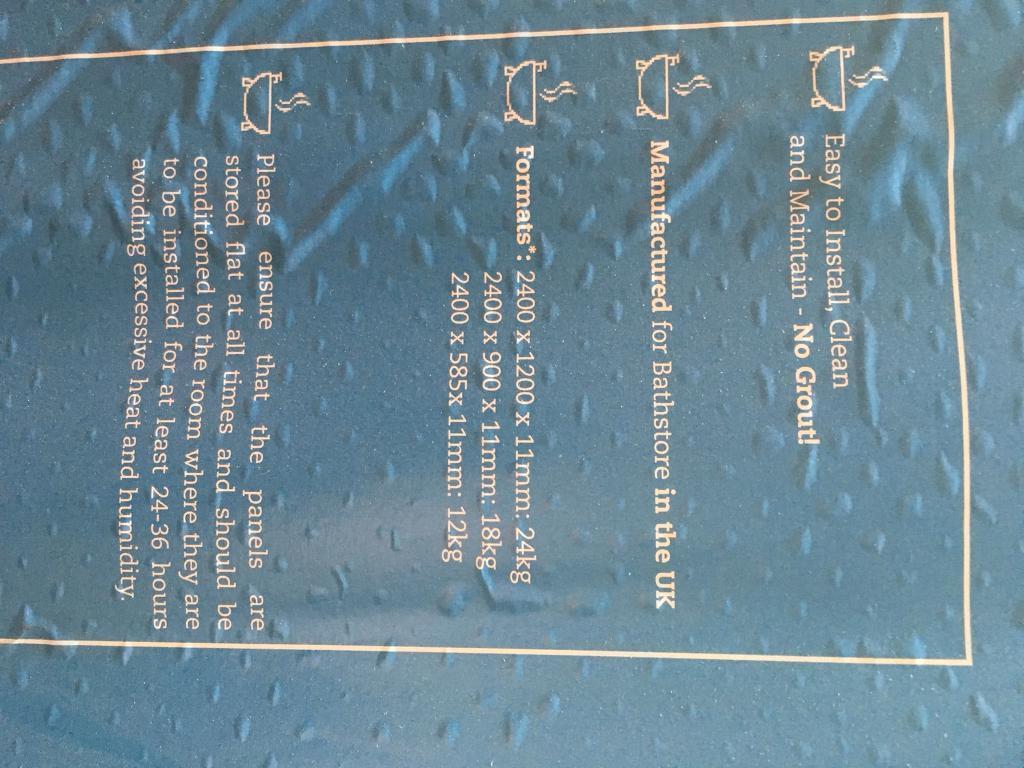 Shower wet wall / splash panel | in Deal, Kent | Gumtree
