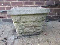 Square Concrete Garden Planter
