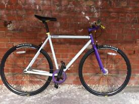 SINGLE SPEED FIXED WHEEL FIXIE MONGOOSE MAURICE BARELY USED AWESOME COMMUTER bmx