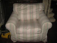 Ikea striped comfy armchair