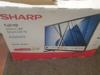 "Sharp 40""Smart TV Aquos Full HD new in box"