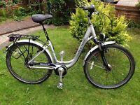 Cruiser Low Step Hybrid Bike Nexus 8 gear hub front basket & back rack front suspension