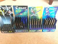 Pilot Gel and Rollerball Ink Pens Job Lot