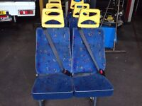 SET OF FORD TRANSIT MINIBUS SEATS FOR SALE