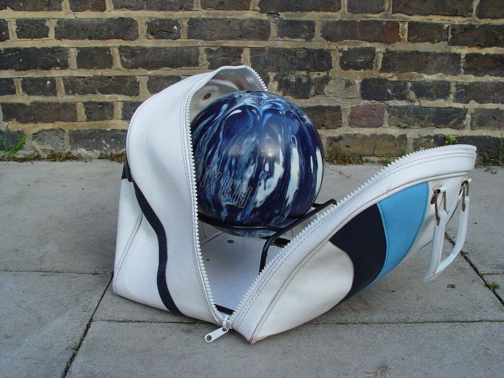 FREE DELIVERY Bowling Ball With Bag Retro S