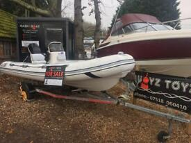 RIB BOAT VALIANT 490 MERCURY 50 4STROKE ON TRAILER