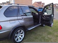 "BMW X5 3.0d SPORT 06 reg FSH SATNAV/TV 20"" WHEELS LEATHER INTERIOR (MAY PX P/X PART EXCHANGE WHY?)"