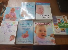 bundle of baby and maternity books.