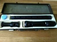 Treble soprano recorder in hard case