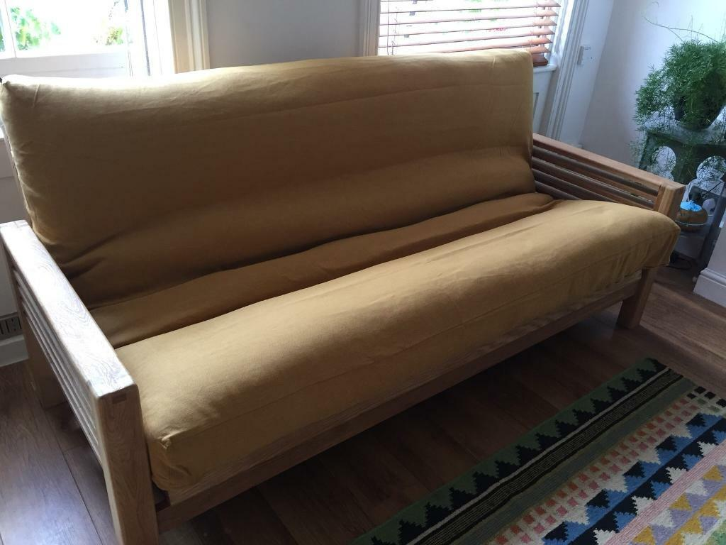 Horizon Solid Oak 3 Seater Sofa Bed By