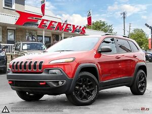 2015 Jeep Cherokee TRAILHAWK, LEATHER, PAN ROOF, NAV