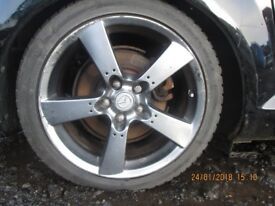 Set of 4 Alloys with Tyres 225/45 18 from a RX8 2006