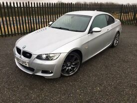 2008 57 BMW 320d M Sport COUPE - 6 SPEED DIESEL - FULL M.O.T & HISTORY, STUNNING