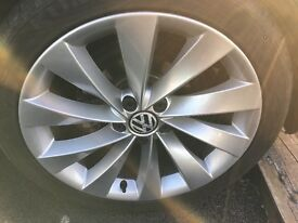 Genuine VW PASSAT CC SCIROCCO 18 INCH INTERLAGOS/TURBINE ALLOY WHEELS ONLY