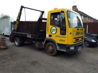 7.5t Iveco Tector Skip Lorry