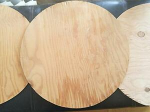 """Oakville 3 WOODEN CIRCLES 16"""" Across Round CUSTOM WOOD CUT from Plywood Rustic Woodcuts Crafts Tabletops Wooden Rough"""
