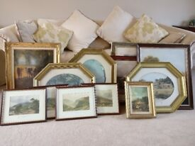 A collection of paintings no longer needed due to redecoration. Very good condition.