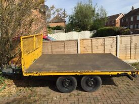 £500 IFOR WILLIAMS FLATBED TRAILER 7ft X 10ft