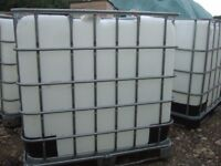 IBC tanks 1000ltr water containers gardens green house allotment good clean
