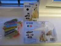 Epson Ink Jet Cartridges. Colour and black. For XP 510, 605, 620, 710 & 810 printer series