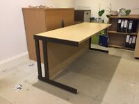 2 Opus Cantilever Office Desks & Corner Unit